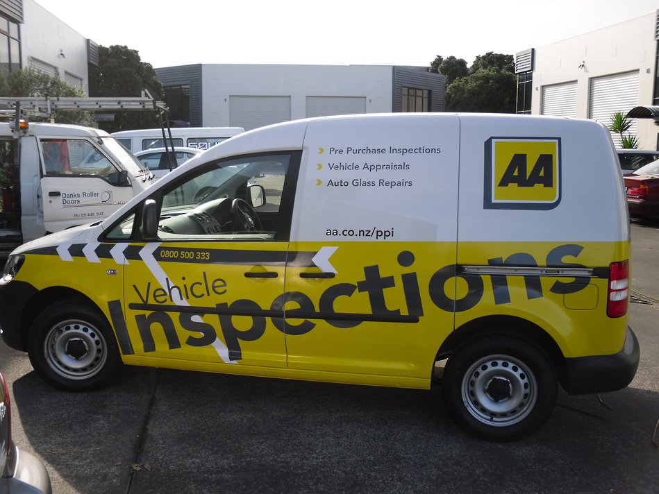 Wrapped AA Vehicle Inspections Van