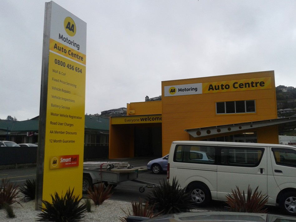 AA Auto Centre Pylon Sign