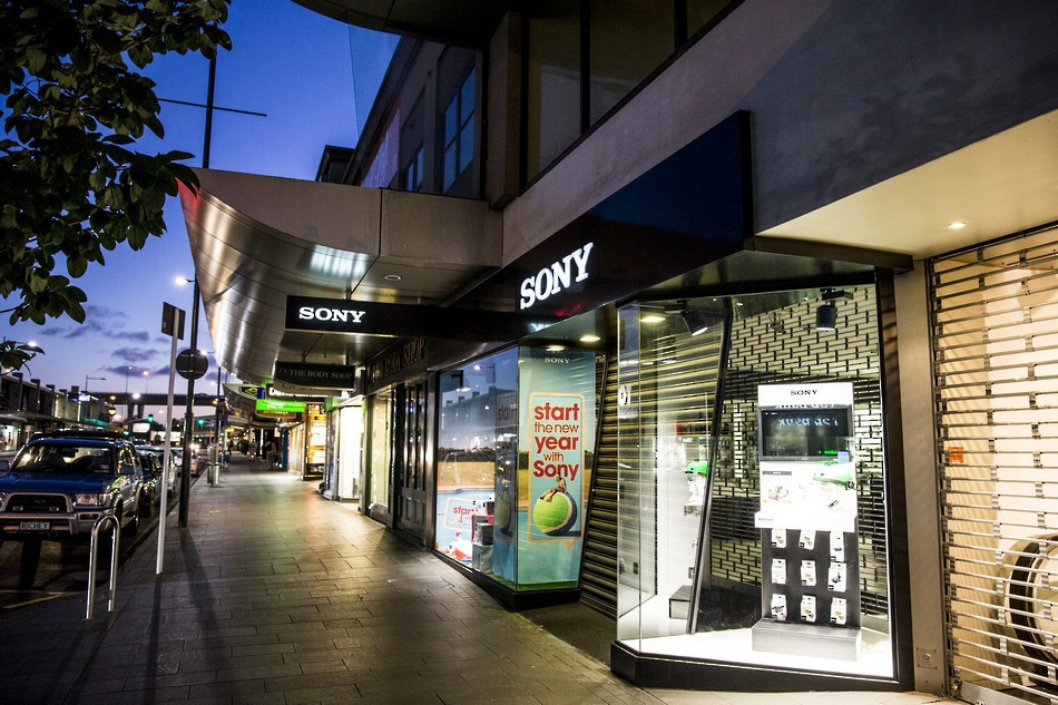 Shop Front Signage - Sony Store Auckland