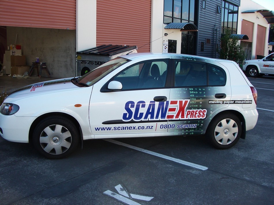 Scanex Press Branded Car