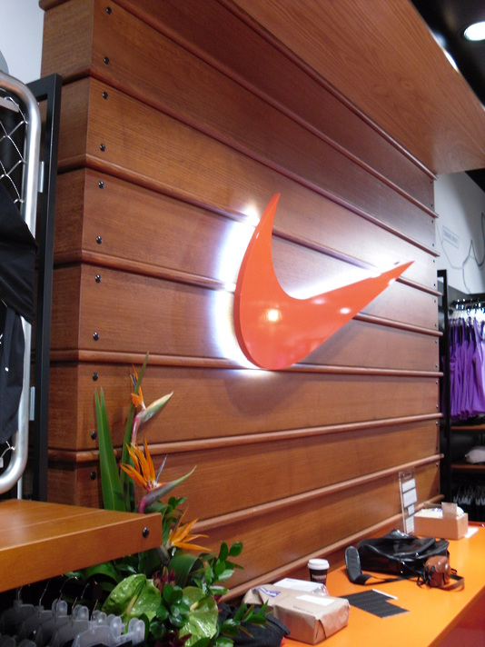 Instore Lit Up Retail Sign - Nike