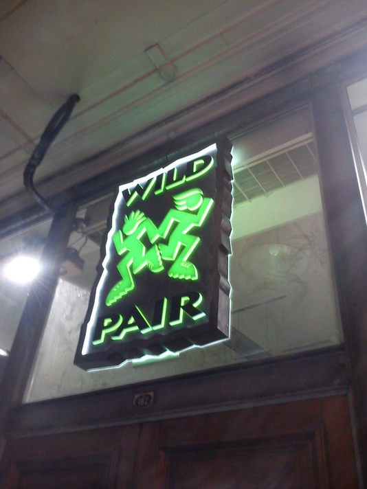 Illuminated Shop Sign - Wild Pair