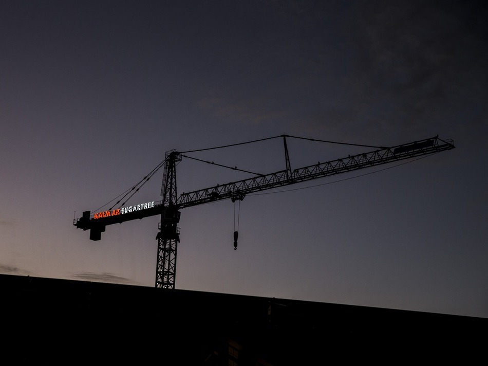 Illuminated Crane Signs - Kalmar Sugertree