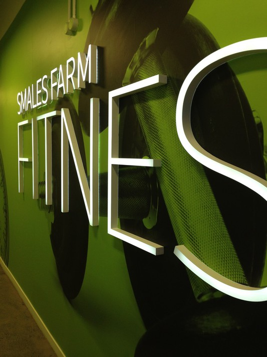 Smales Farm Fitness Signage