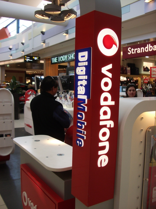 Instore Illuminated Signs - Vodafone
