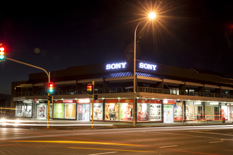 Illuminated Outdoor Corporate - Signage Sony Auckland