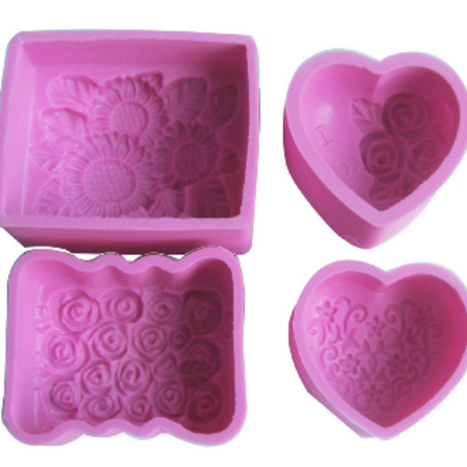Hearts and rectangles set image 1