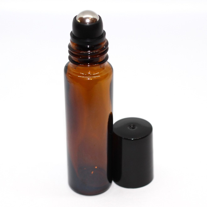 Roll-on amber glass bottle: 10ml image 0