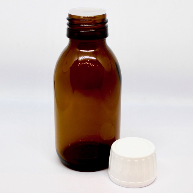 Amber glass bottle with dripulator: 100ml image 0
