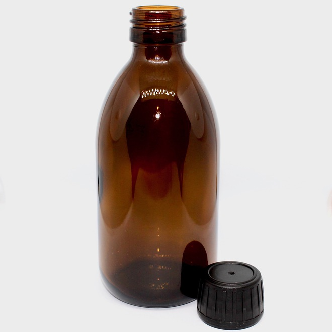 Amber glass bottle: 250ml image 0