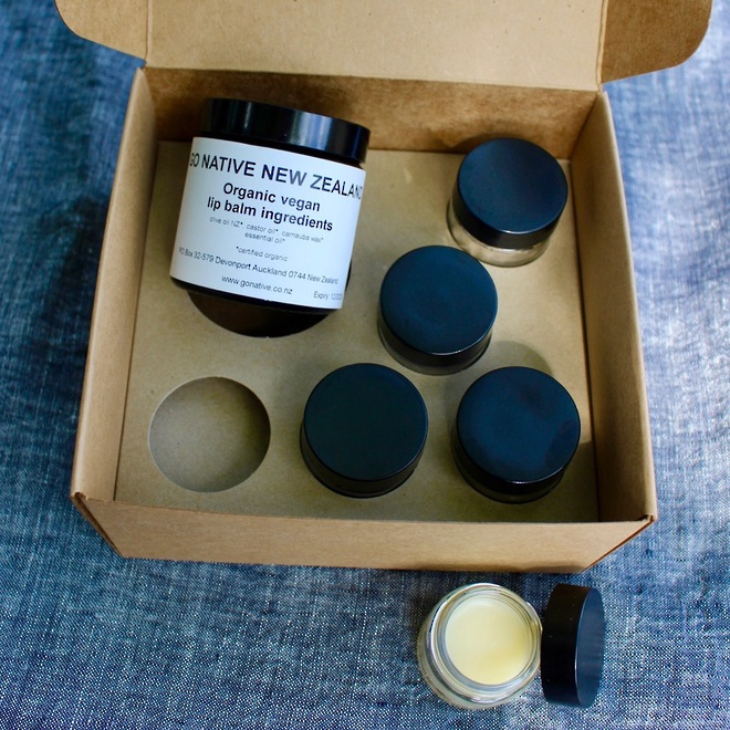 Organic vegan lip balm kit image 0