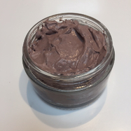 Purple clay mask