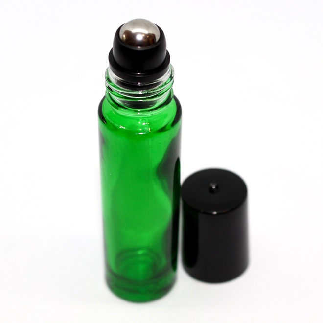 Roll-on green glass bottle: 10ml image 0