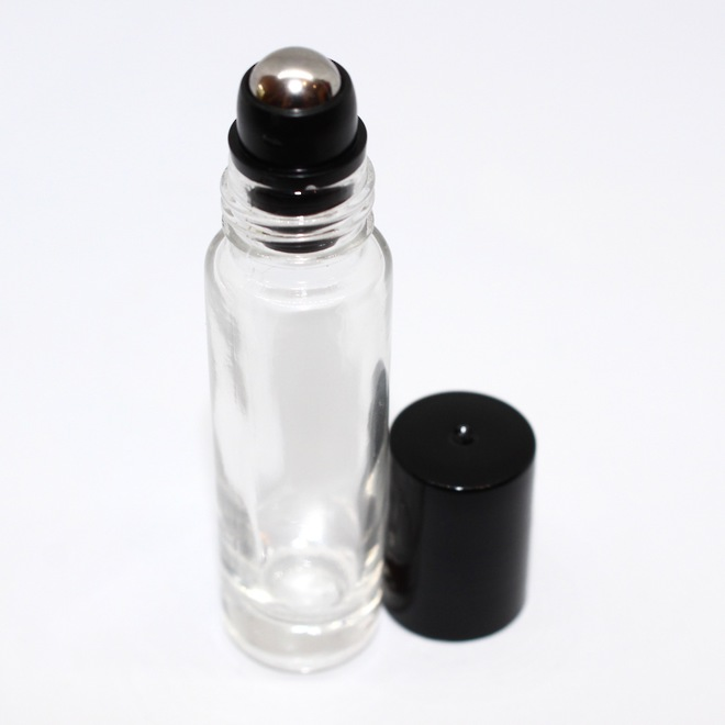 Roll-on clear glass bottle: 10ml image 0