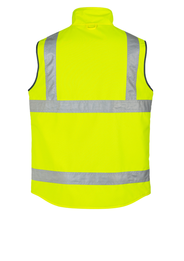 ZV358 Mens Hi Vis Lightweight Fleece Lined Vest image 2