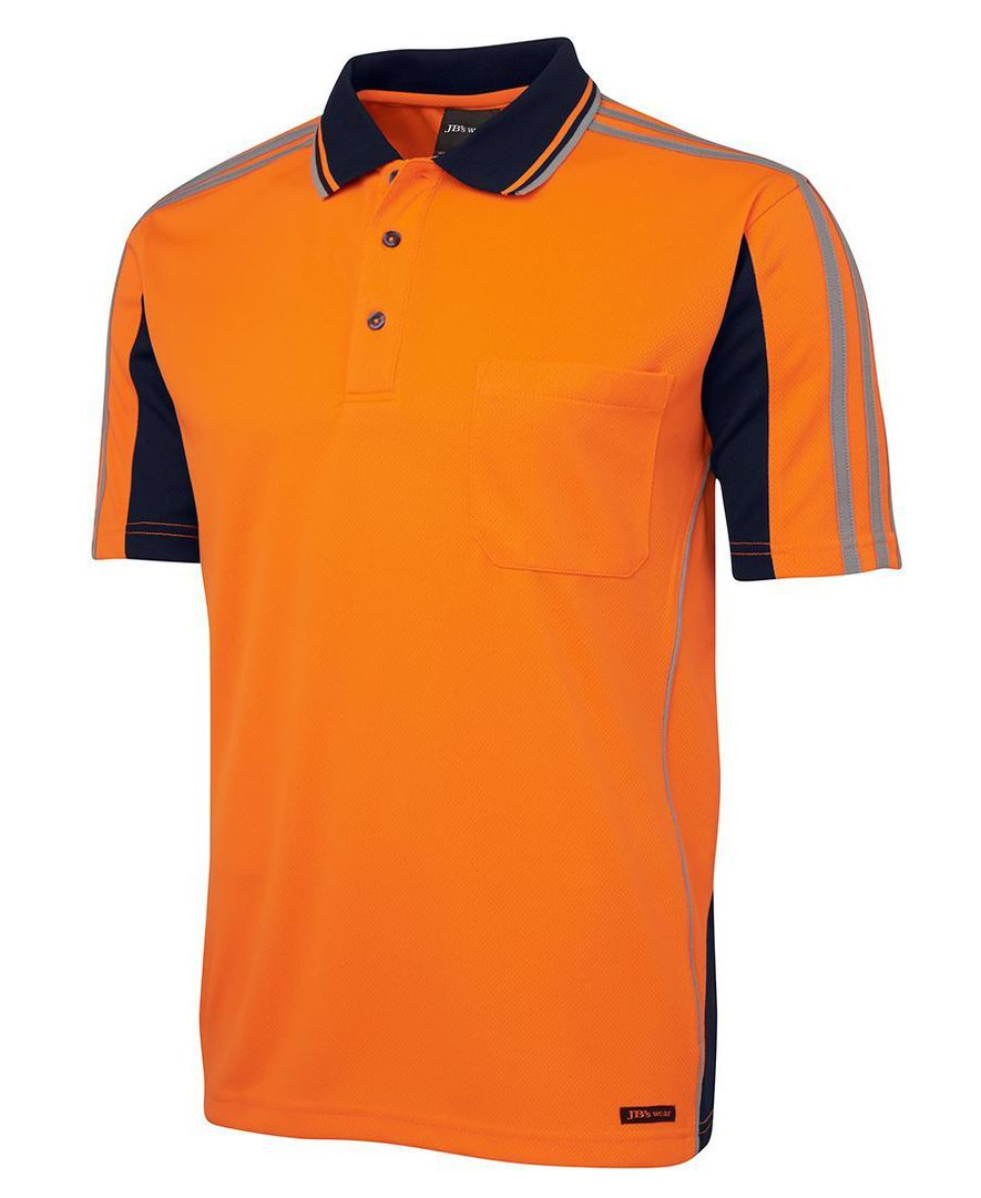 6AT4S Hi Vis S/S Arm Tape Polo image 1