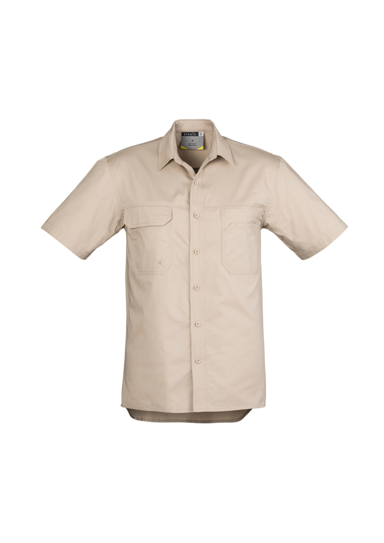 ZW120 Mens Light Weight Tradie Shirt - Short Sleeve image 6