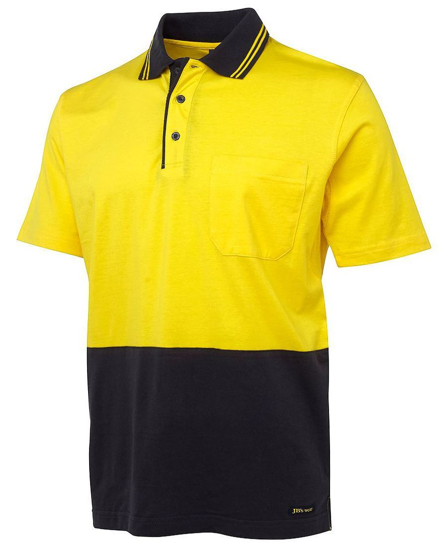 6CPHV Hi Vis S/S Cotton Polo image 1