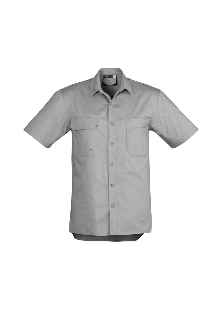 ZW120 Mens Light Weight Tradie Shirt - Short Sleeve image 4