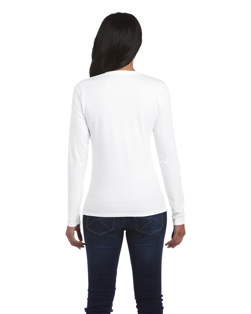 Softstyle® Fitted Ladies' Long Sleeve T-Shirt image 1