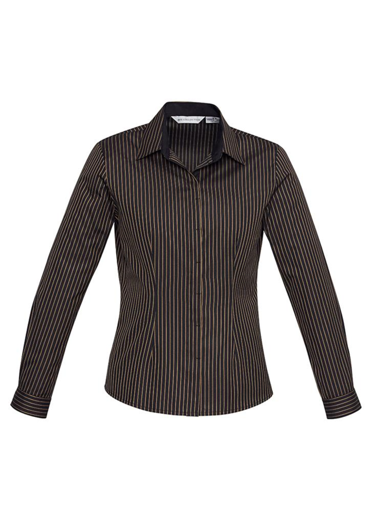 Ladies Reno Stripe Long Sleeve Shirt image 2