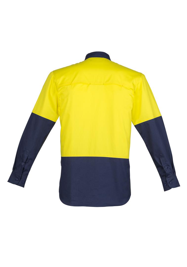 ZW560 Mens Hi Vis Closed Front L/S Shirt image 1