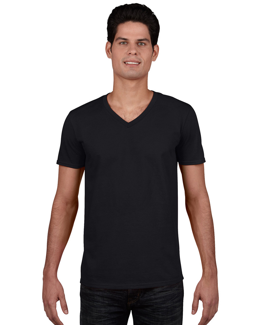 Softstyle® Euro Fit Adult V-Neck T-Shirt image 4