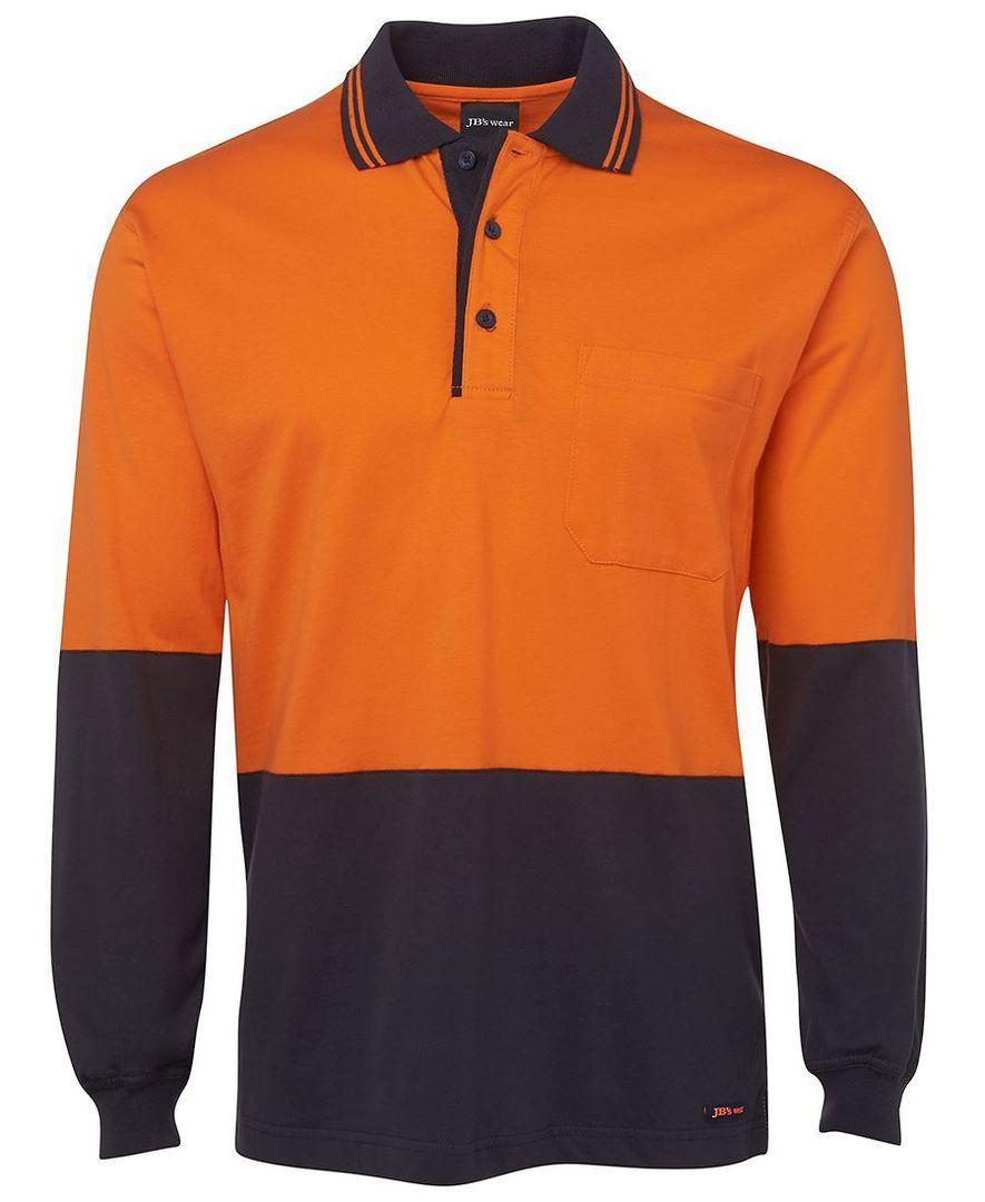6CPHL Hi Vis L/S Cotton Polo image 0
