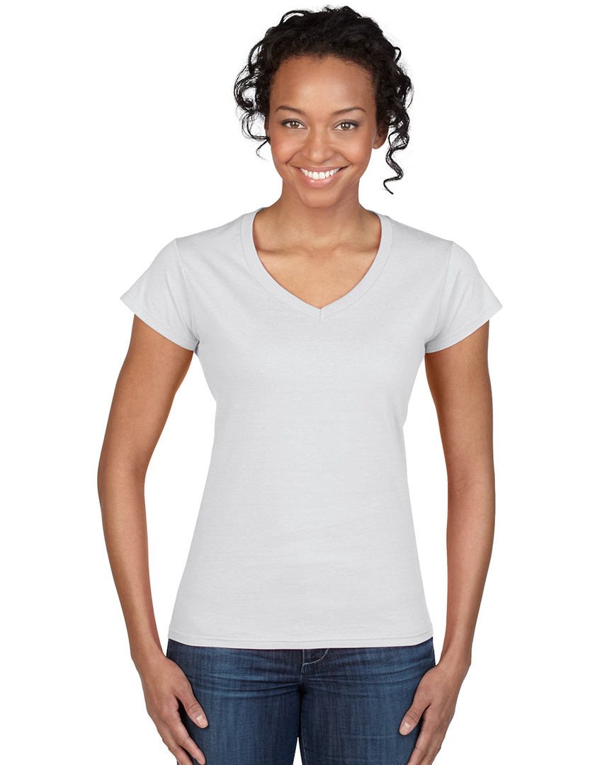 Softstyle® Fitted Ladies' V-Neck T-Shirt image 0