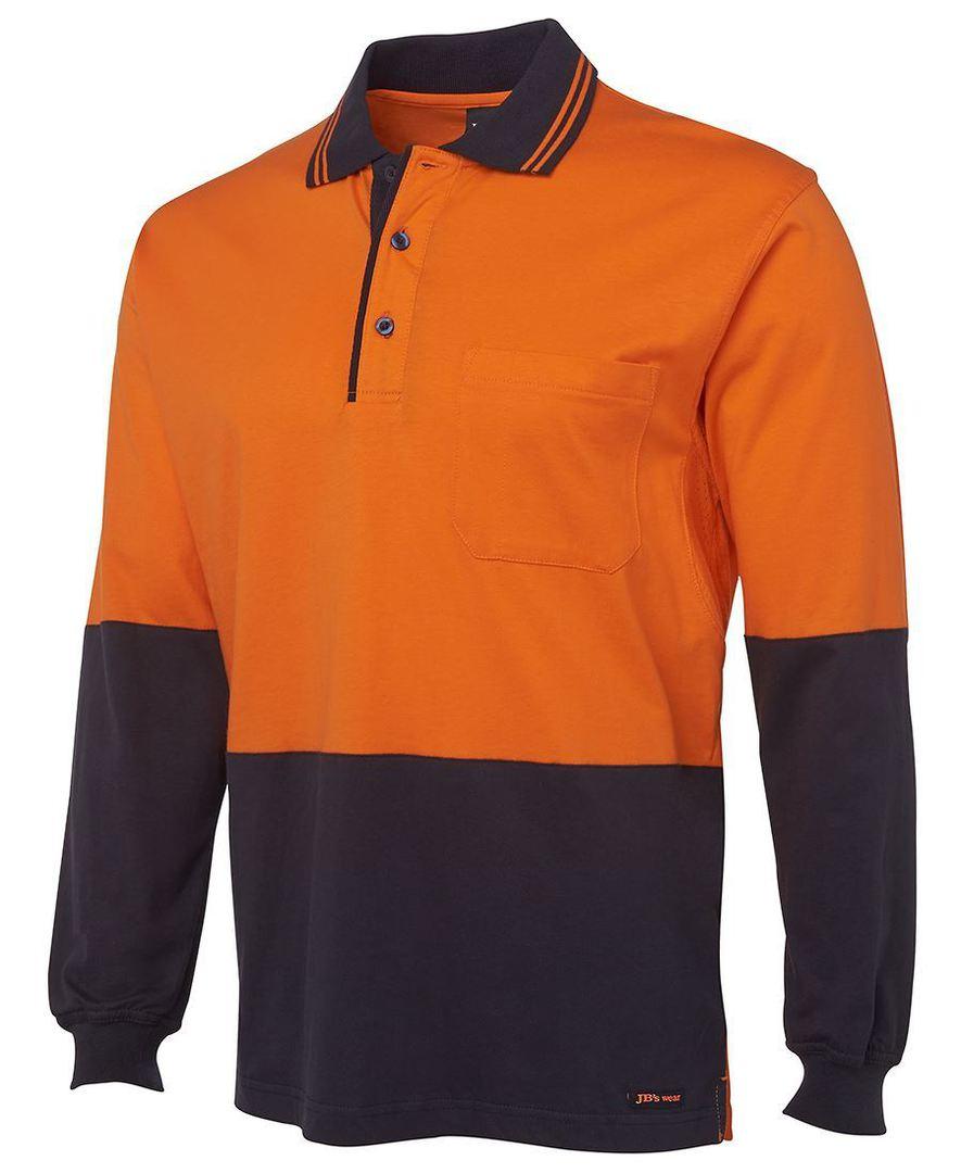 6CPHL Hi Vis L/S Cotton Polo image 1