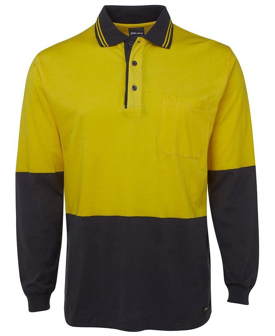 6CPHL Hi Vis L/S Cotton Polo image 3