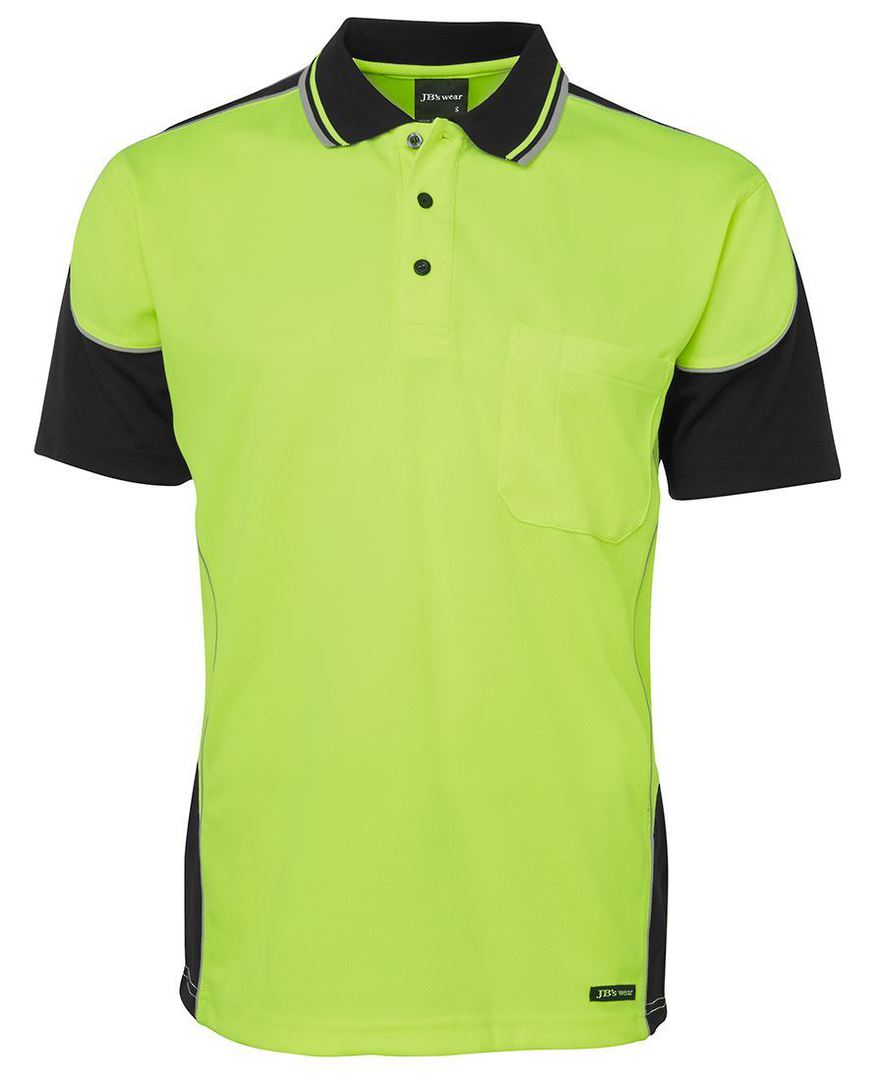 6HCP4 Hi Vis Contrast Piping Polo image 3