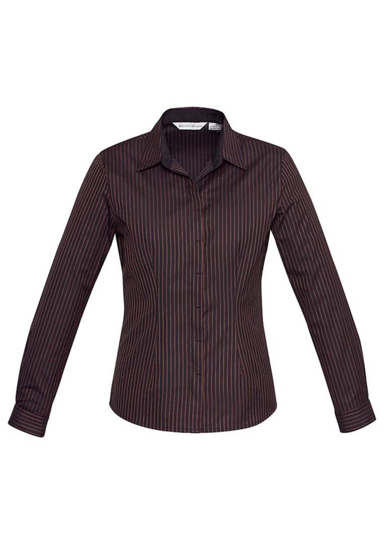 Ladies Reno Stripe Long Sleeve Shirt image 1
