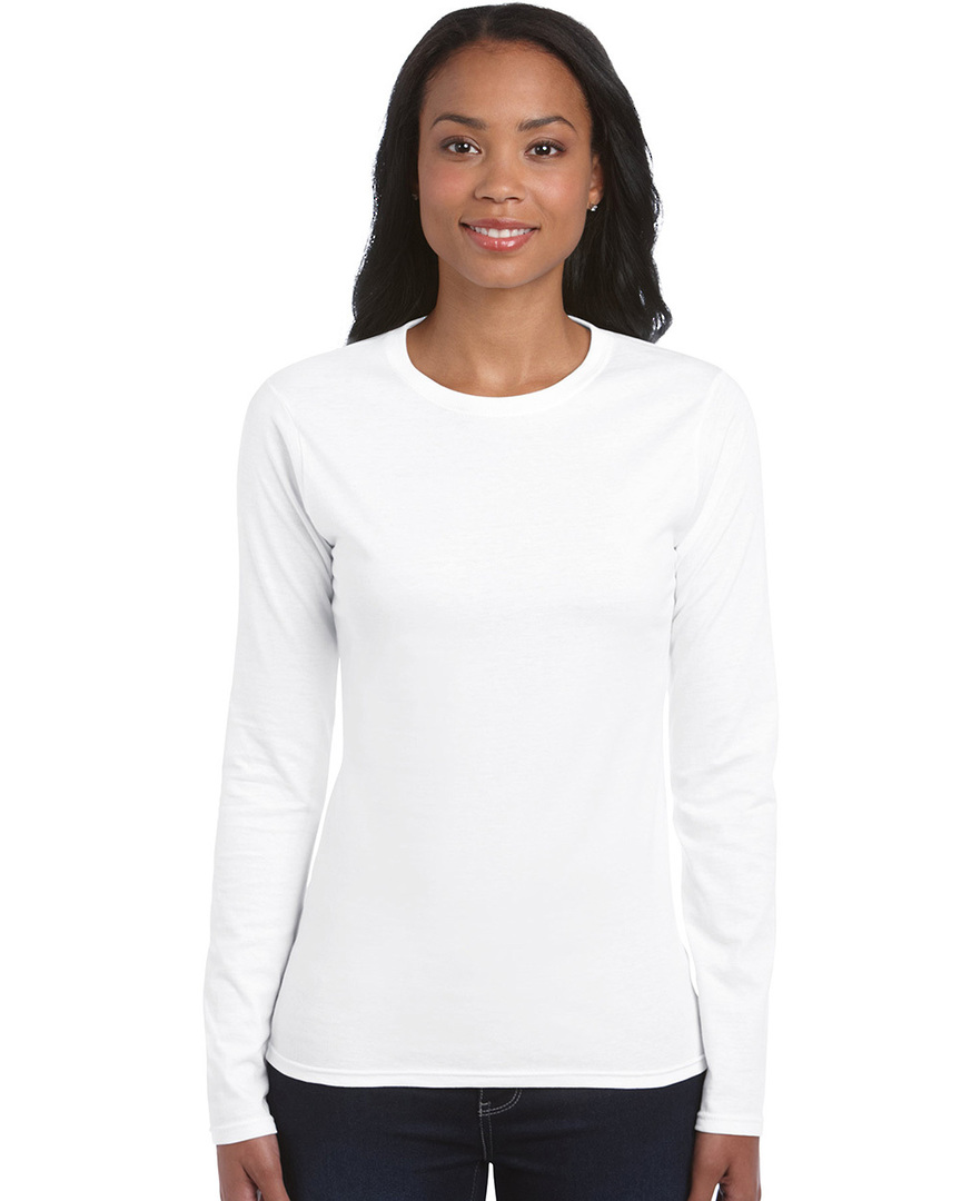 Softstyle® Fitted Ladies' Long Sleeve T-Shirt image 0