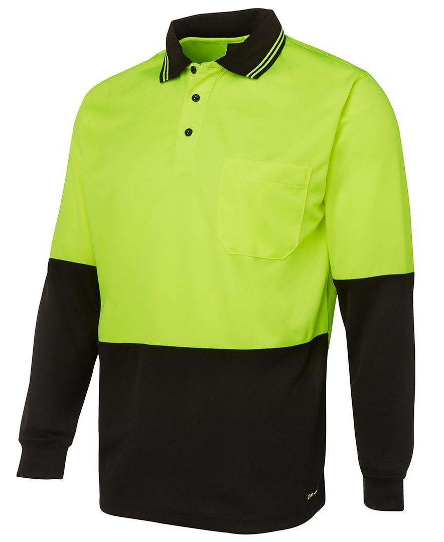 6HVPL Hi Vis L/S Traditional Polo image 1