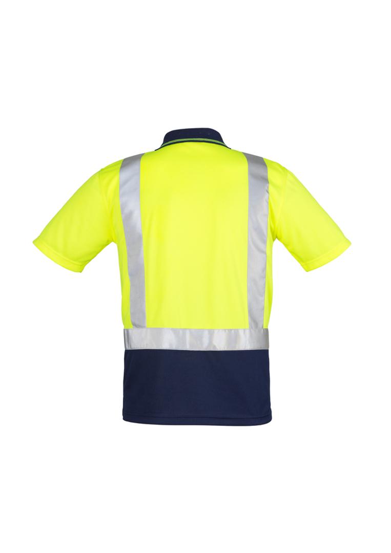 ZH233 Mens Hi Vis Spliced Polo - Short Sleeve image 2