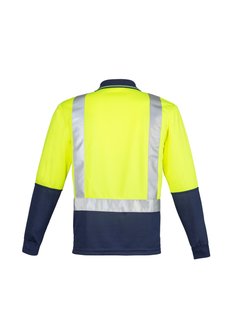 ZH234 Mens Hi Vis Spliced Polo - Long Sleeve image 2