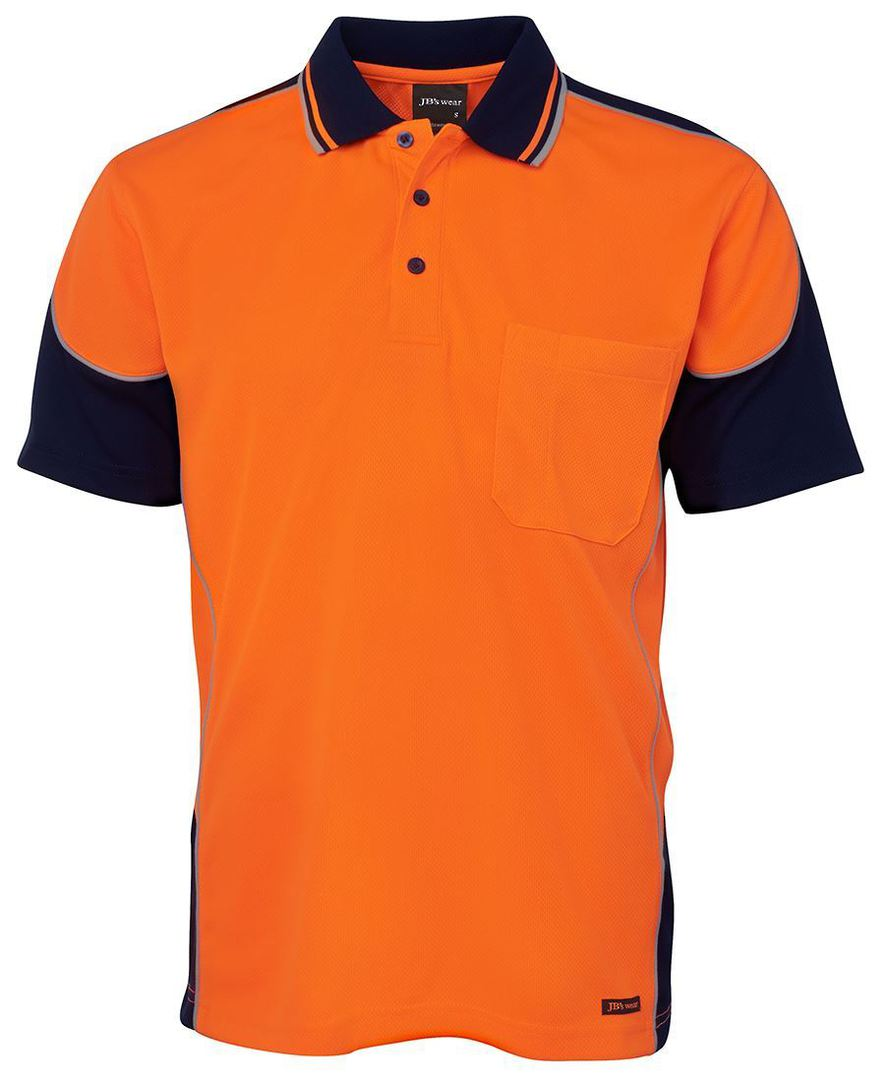 6HCP4 Hi Vis Contrast Piping Polo image 1