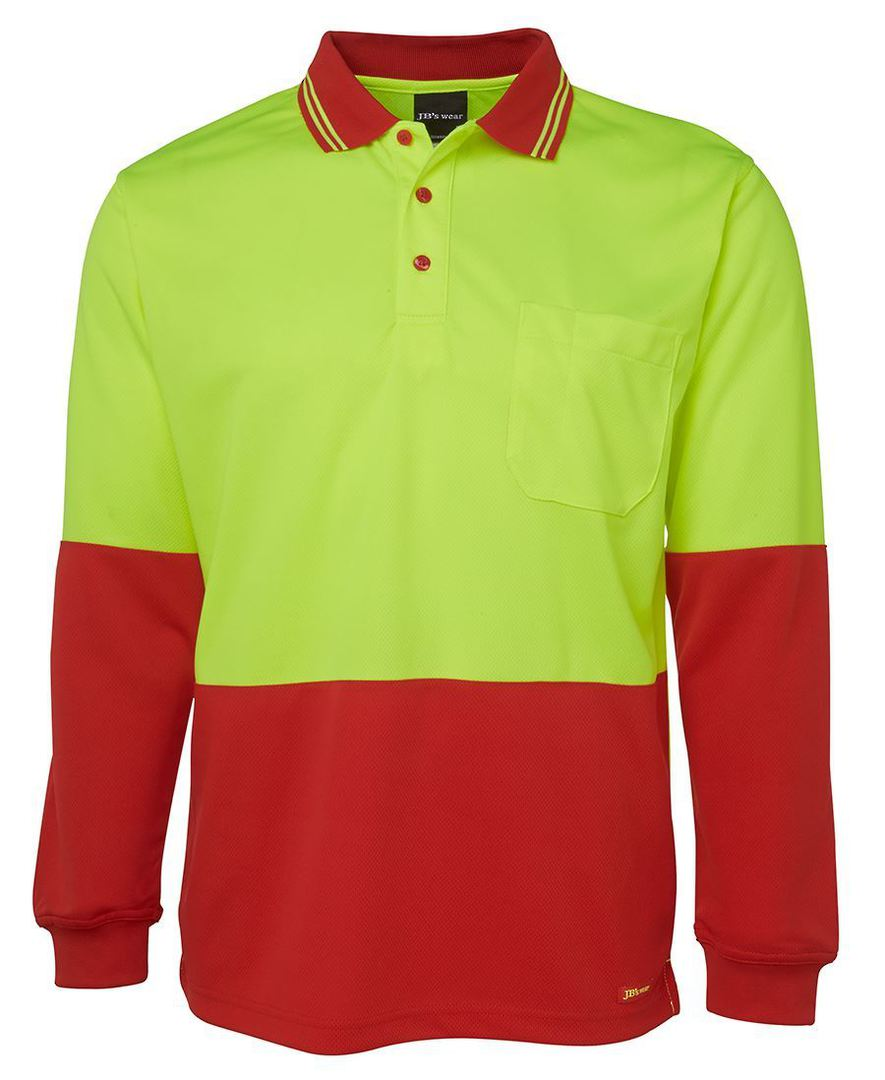 6HVPL Hi Vis L/S Traditional Polo image 3
