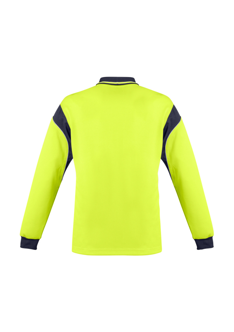 ZH249 Mens Hi Vis Aztec Polo - Long Sleeve image 6
