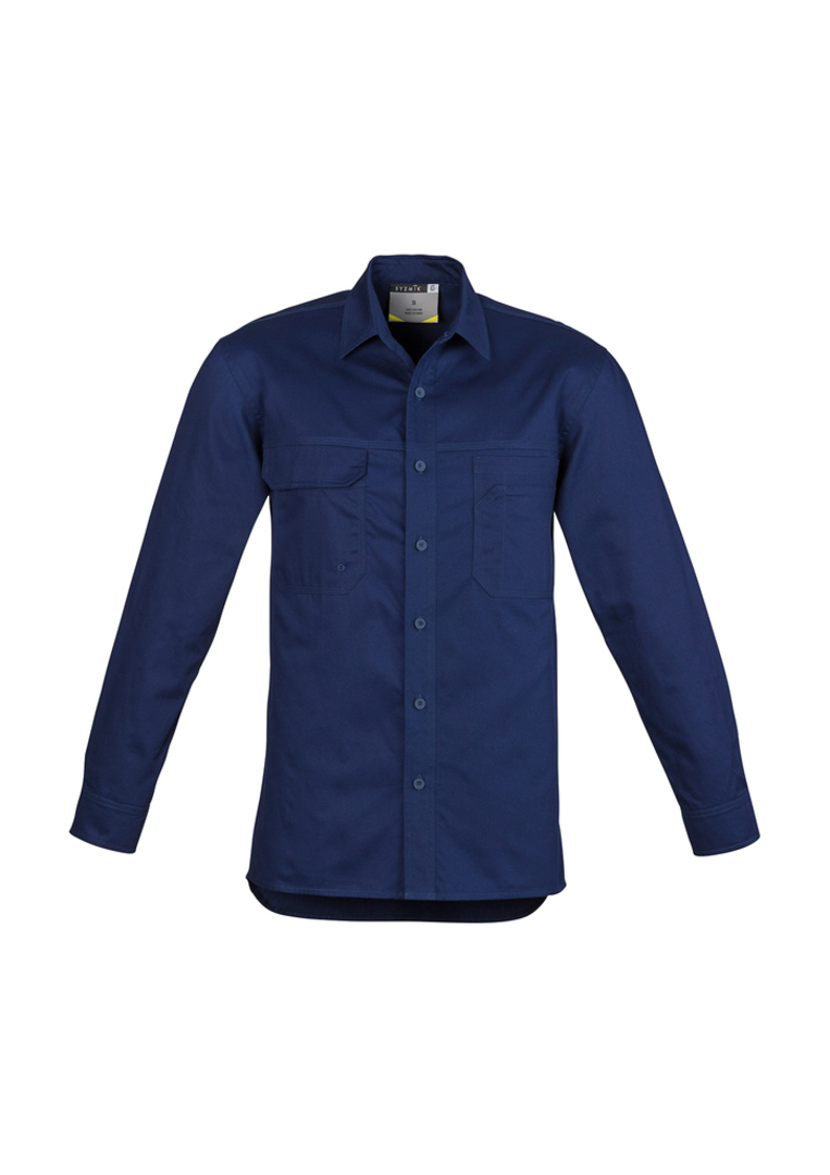 ZW121 Mens Lightweight Tradie Shirt - Long Sleeve image 3