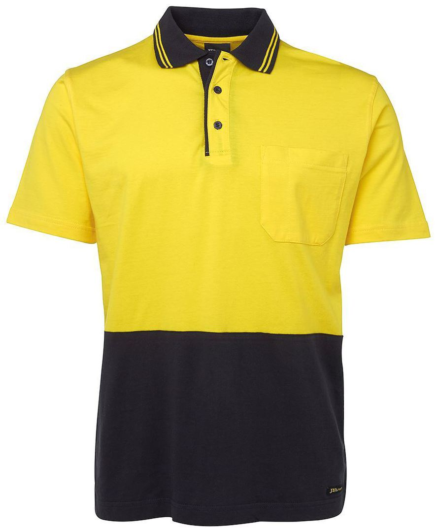 6CPHV Hi Vis S/S Cotton Polo image 0