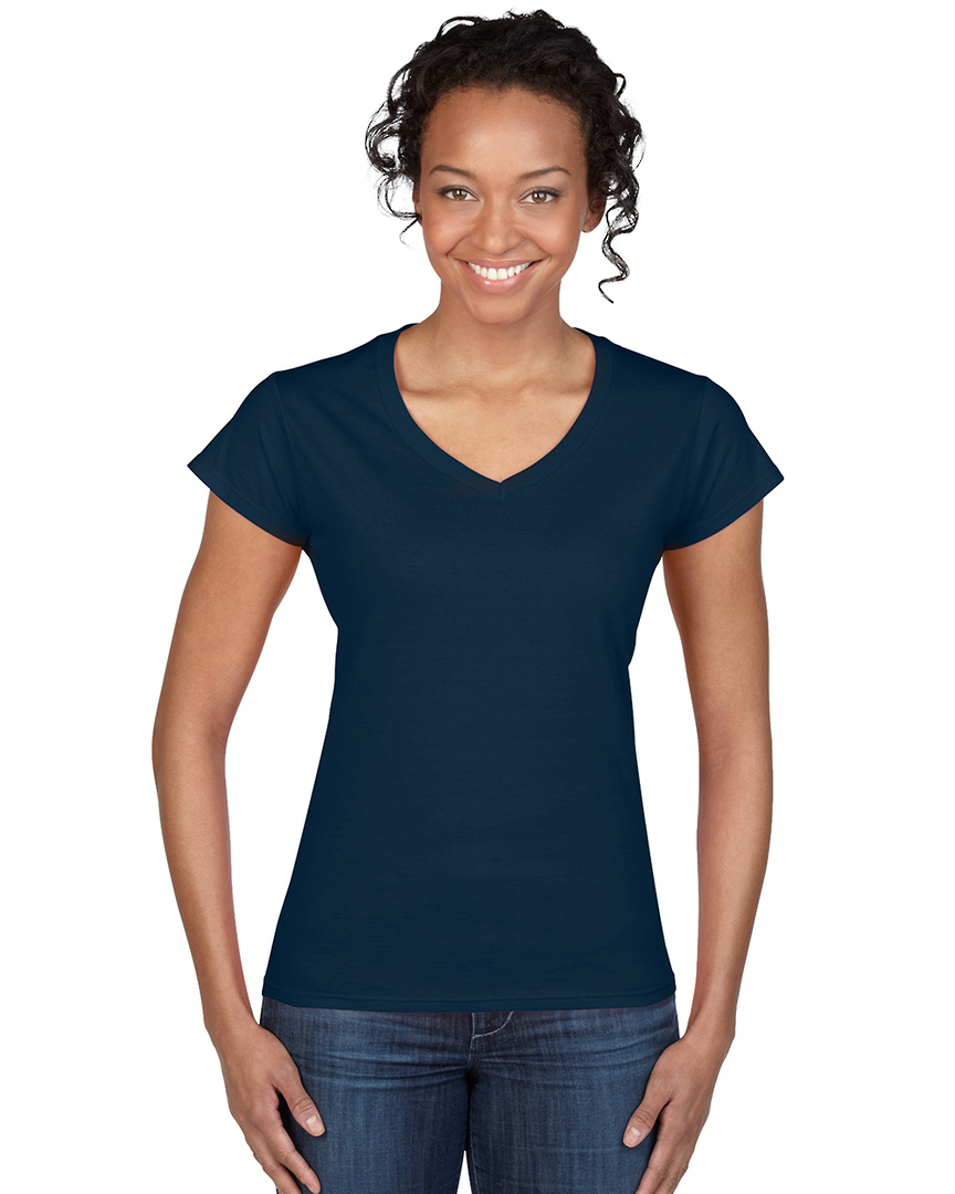 Softstyle® Fitted Ladies' V-Neck T-Shirt image 2