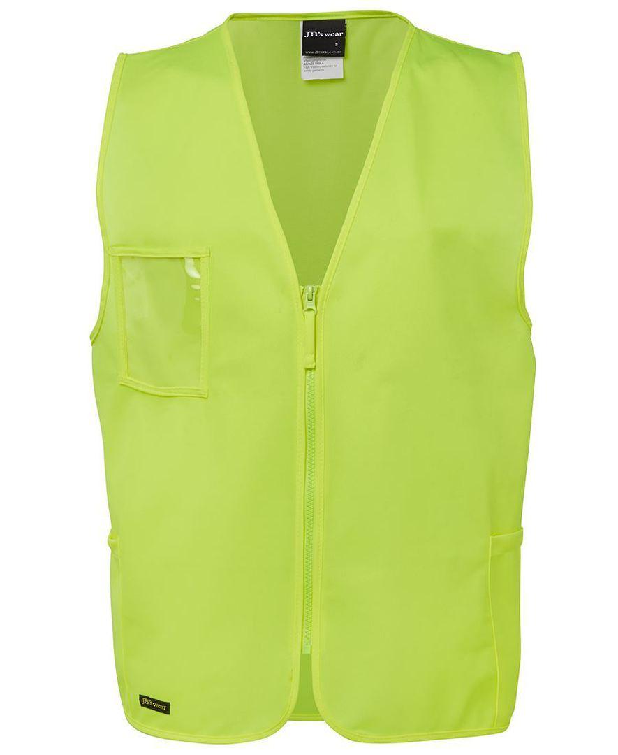 6HVSZ Hi Vis Zip Safety Vest image 0