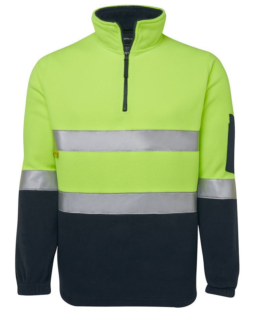 6DNPF Hi Vis (D+N) 1/2 Zip Polar Fleece image 0