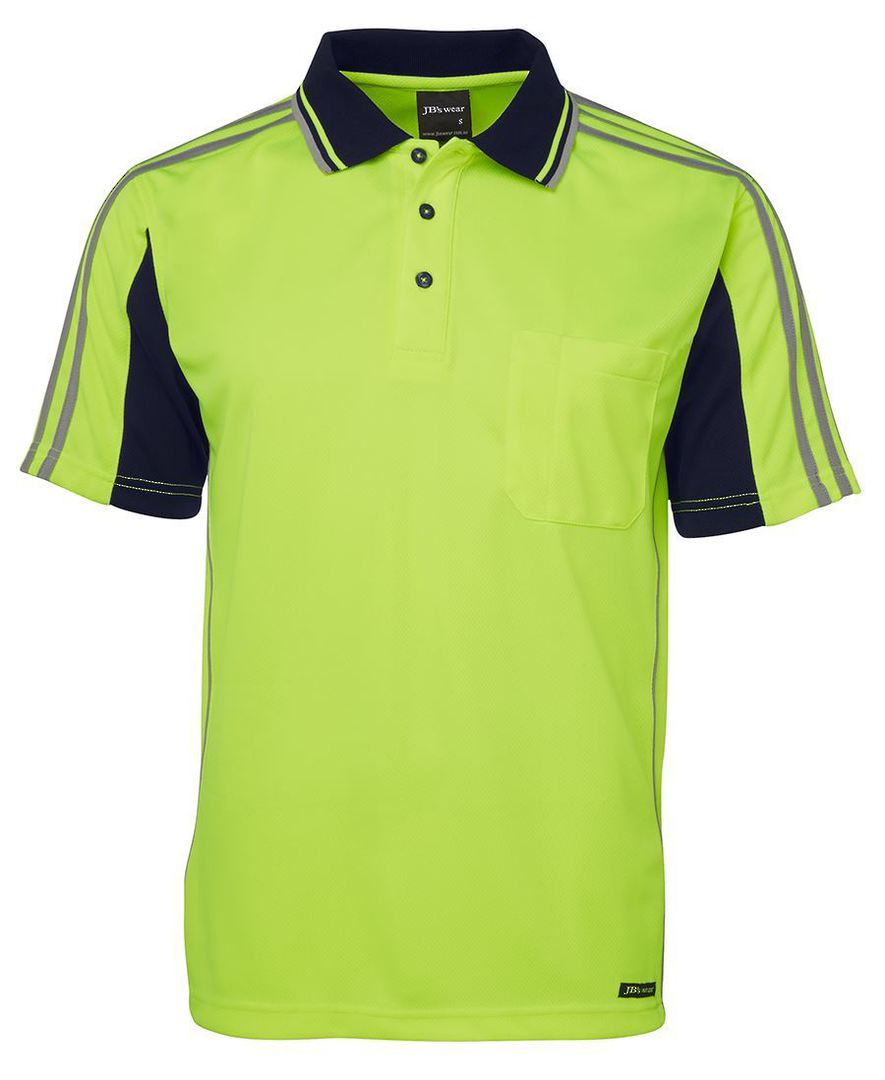 6AT4S Hi Vis S/S Arm Tape Polo image 4