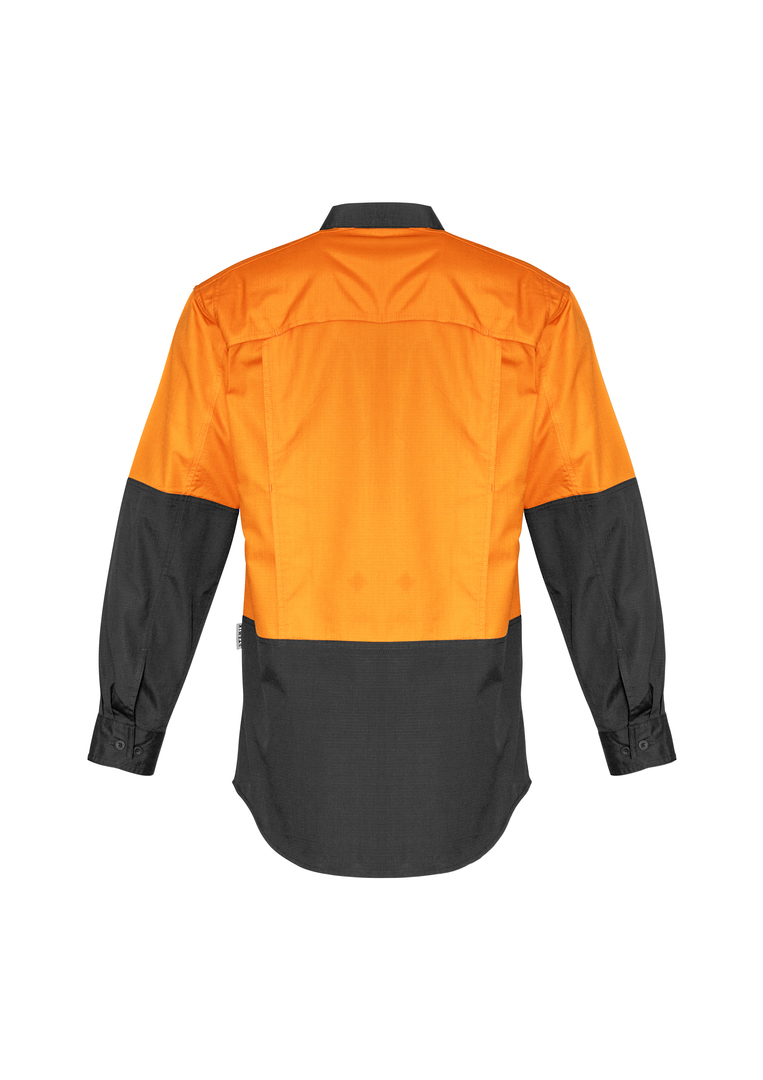 ZW128 Mens Rugged Cooling Hi Vis Spliced L/S Shirt image 7