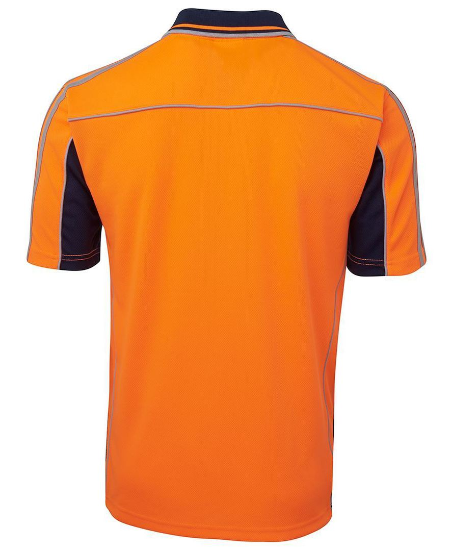 6AT4S Hi Vis S/S Arm Tape Polo image 2