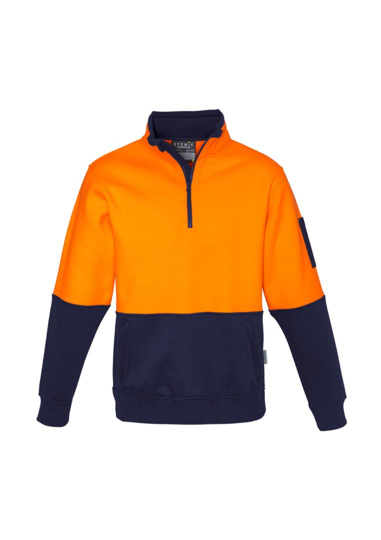 ZT476 Unisex Hi Vis Half Zip Pullover image 0