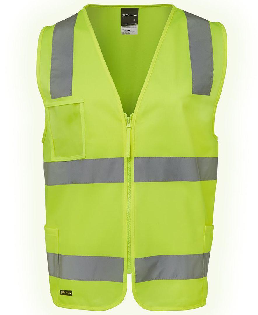 6DNSZ Hi Vis (D+N) Zip Safety Vest image 0
